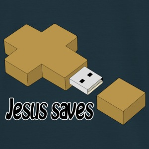 jesus saves usb Sweat-shirts - T-shirt Homme