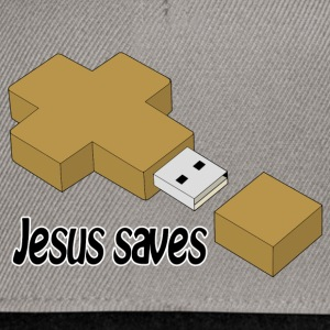 jesus saves usb Hoodies & Sweatshirts - Snapback Cap