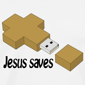 jesus saves usb Other - Men's Premium T-Shirt