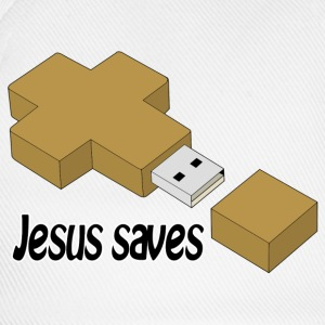 jesus saves usb Buttons - Baseball Cap