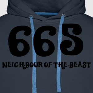 665 - The Neighbour of the Best (1c, ENG) - Herre Premium hættetrøje