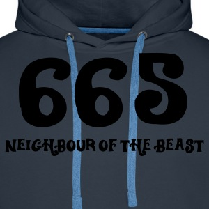665 - The Neighbour of the Best (1c, ENG) - Felpa con cappuccio premium da uomo