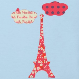 red eiffeltower Hoodies - Kids' Organic T-shirt