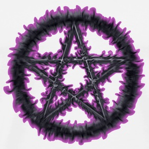 Spiky Purple Pentacle - Men's Premium T-Shirt