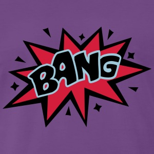 BANG, comic speech bubble, cartoon, word balloon Tröjor - Premium-T-shirt herr
