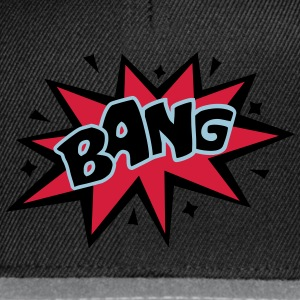 BANG, comic speech bubble, cartoon, word balloon H - Snapback Cap
