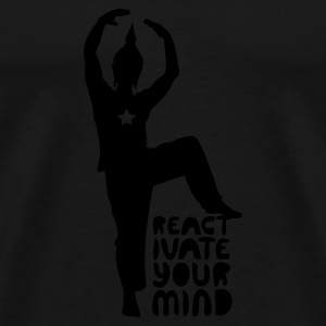Black reactivateyourmind02 Jumpers  - Men's Premium T-Shirt