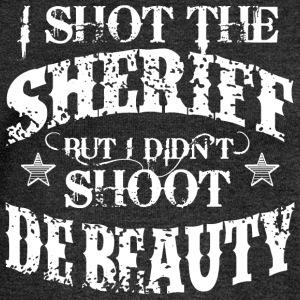 I Shot The Sheriff, But Not The Beauty-White T-Shirts - Women's Boat Neck Long Sleeve Top