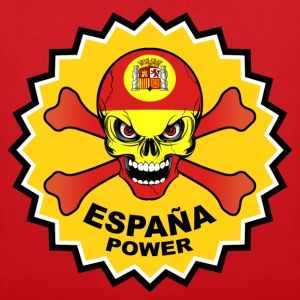 Spain power skull Tee shirts - Tote Bag