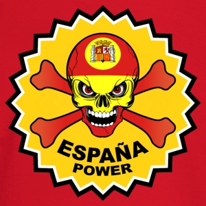 Spain power skull Sudaderas - Camiseta manga larga bebé