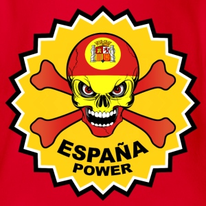 Spain power skull Tee shirts - Body bébé bio manches courtes