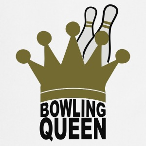 White bowling queen Men's Tees - Cooking Apron