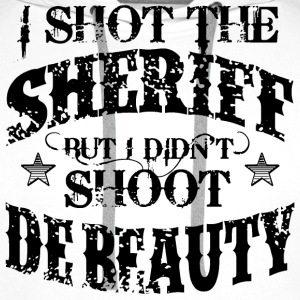 I Shot The Sheriff, But Not The Beauty-Black T-Shirts - Men's Premium Hoodie