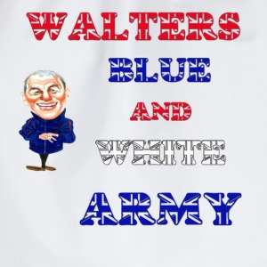 Walter smiths blue and white army t shirt  - Drawstring Bag