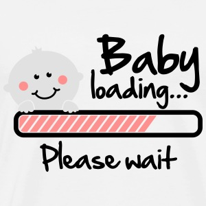 Baby loading - please wait Sweaters - Mannen Premium T-shirt