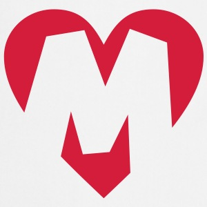 I love M T-Shirt - Heart M - Letter M - Cooking Apron