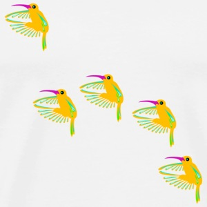 five hummingbirds Buttons - Men's Premium T-Shirt