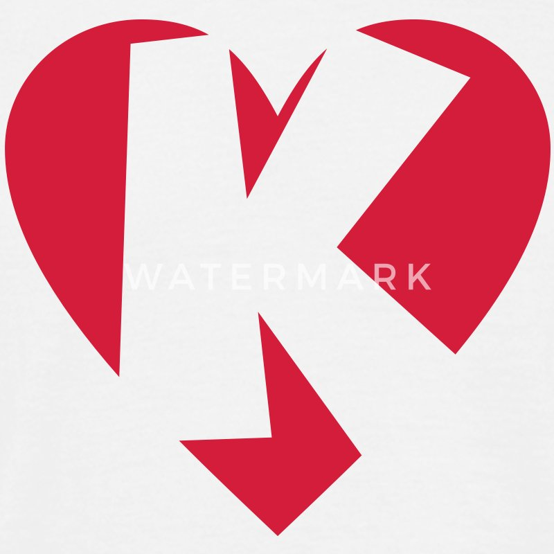 I love K T-Shirt - Heart K - Letter K - Men's T-Shirt