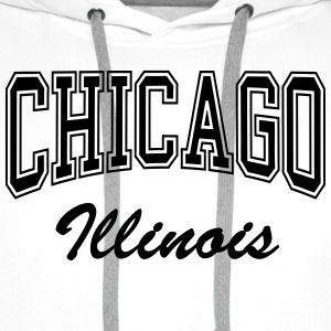 Chicago Illinois T-Shirts - Men's Premium Hoodie