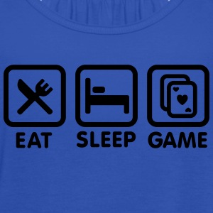 Eat - Sleep - Game poker T-shirts - Vrouwen tank top van Bella