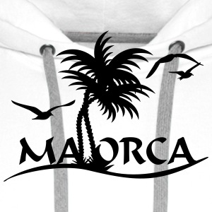 Mallorca-Palmen / Mallorca with palm trees (1c) T-Shirts - Men's Premium Hoodie
