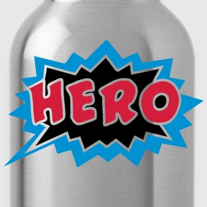 Comic, Hero, Sprechblase, Superhero, Cartoon, Fun  - Trinkflasche