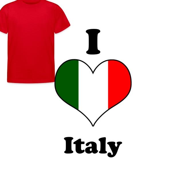 T-Shirt kinderen I Love Italy