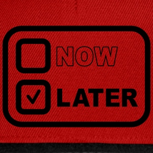 Now Later T-shirts - Snapback Cap