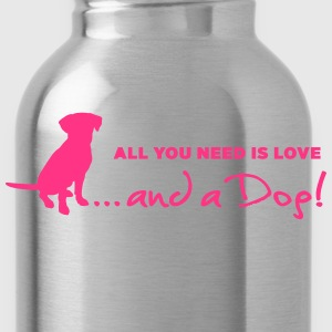 Love is a Dog! - Trinkflasche