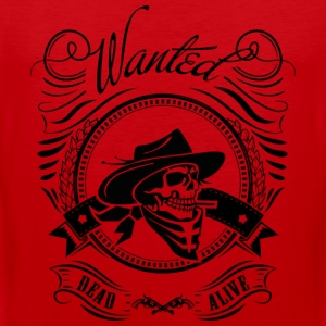 I want you, wanted, dead or alive - Cowboy T-Shirts - Männer Premium Tank Top