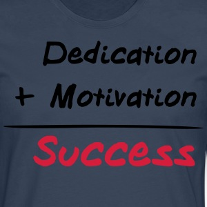 Dedication + Motivation = Success Camisetas - Camiseta de manga larga premium hombre