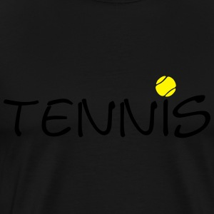 Tennis ball tennis ball racket sports 2c Hoodies - Men's Premium T-Shirt