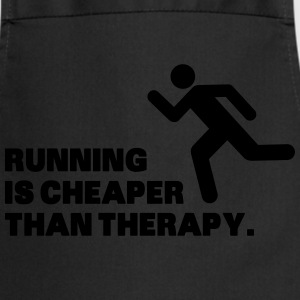 Running Is Cheaper Than Therapy T-shirts - Keukenschort