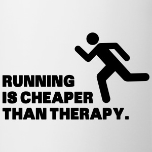 Running Is Cheaper Than Therapy Magliette - Tazza