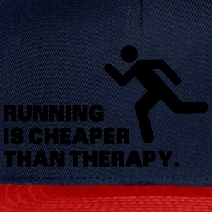 Running Is Cheaper Than Therapy Magliette - Snapback Cap