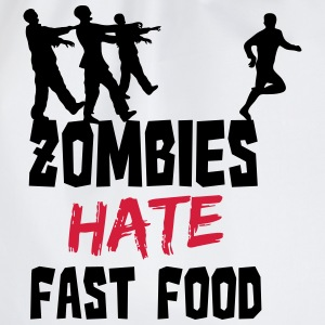 Zombies Hate Fast Food T-shirts - Gymnastikpåse