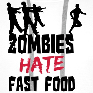 Zombies Hate Fast Food Flessen & bekers - Mannen Premium hoodie