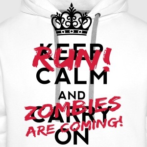 Zombies Are Coming Tee shirts - Sweat-shirt à capuche Premium pour hommes