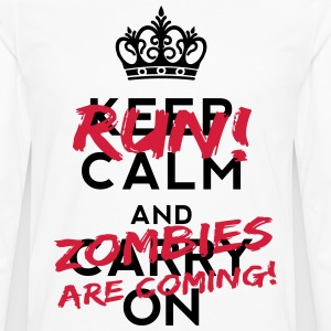 Zombies Are Coming T-Shirts - Men's Premium Longsleeve Shirt