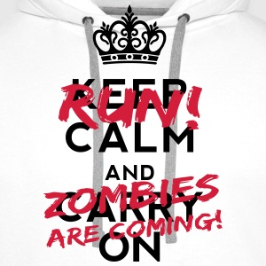 Zombies Are Coming Flessen & bekers - Mannen Premium hoodie