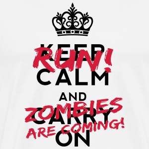 Zombies Are Coming Bottles & Mugs - Men's Premium T-Shirt