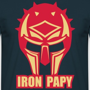 iron papy casque armure ironpapy cask Sweat-shirts - T-shirt Homme