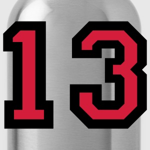 Number 13 T-Shirt - Water Bottle