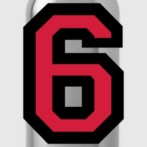 Number 6 T-Shirt - Water Bottle