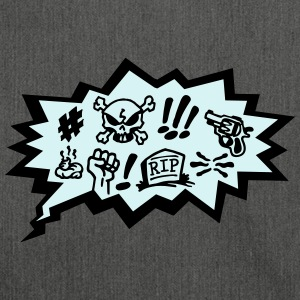 Comic Curses, Symbols Cartoon, Skull, Book, Words Hoodies & Sweatshirts - Shoulder Bag made from recycled material
