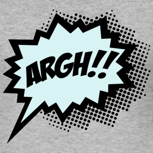 Comic ARGH!, Super Hero, Cartoon, Speech Bubble Tröjor - Slim Fit T-shirt herr