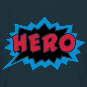 Comic, Hero, Speech Bubble, Superhero, Cartoon Tröjor - T-shirt herr