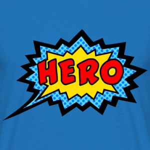 Comic, Hero, Speech Bubble, Superhero, Cartoon  - Männer T-Shirt