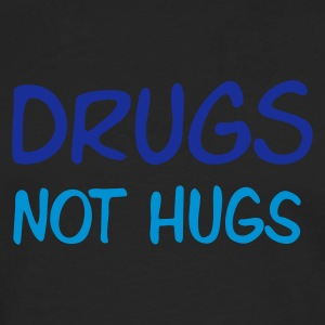 Sand beige drugs not hugs Men's T-Shirts - Långärmad premium-T-shirt herr