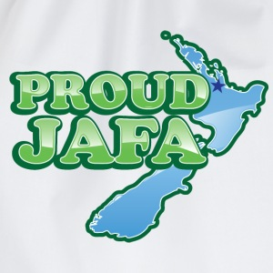 Proud JAFA with New Zealand Map    Aprons - Drawstring Bag
